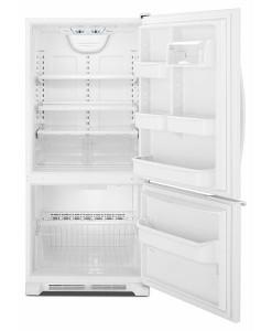 Amana® 18.5 cu. ft. Bottom-Freezer Refrigerator with ENERGY STAR Qualification - ABB1921BRW - Doors Open