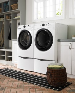 Amana® Washer Dryer and Pedestal Home Setup