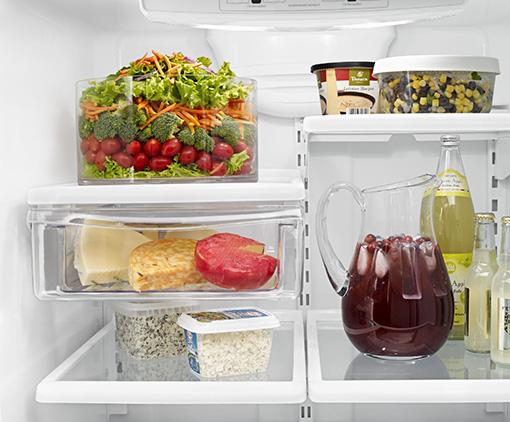 Amana® 18.5 cu. ft. Bottom-Freezer Refrigerator with Greater Efficiency - ABB1924BRW - Middle Shelf