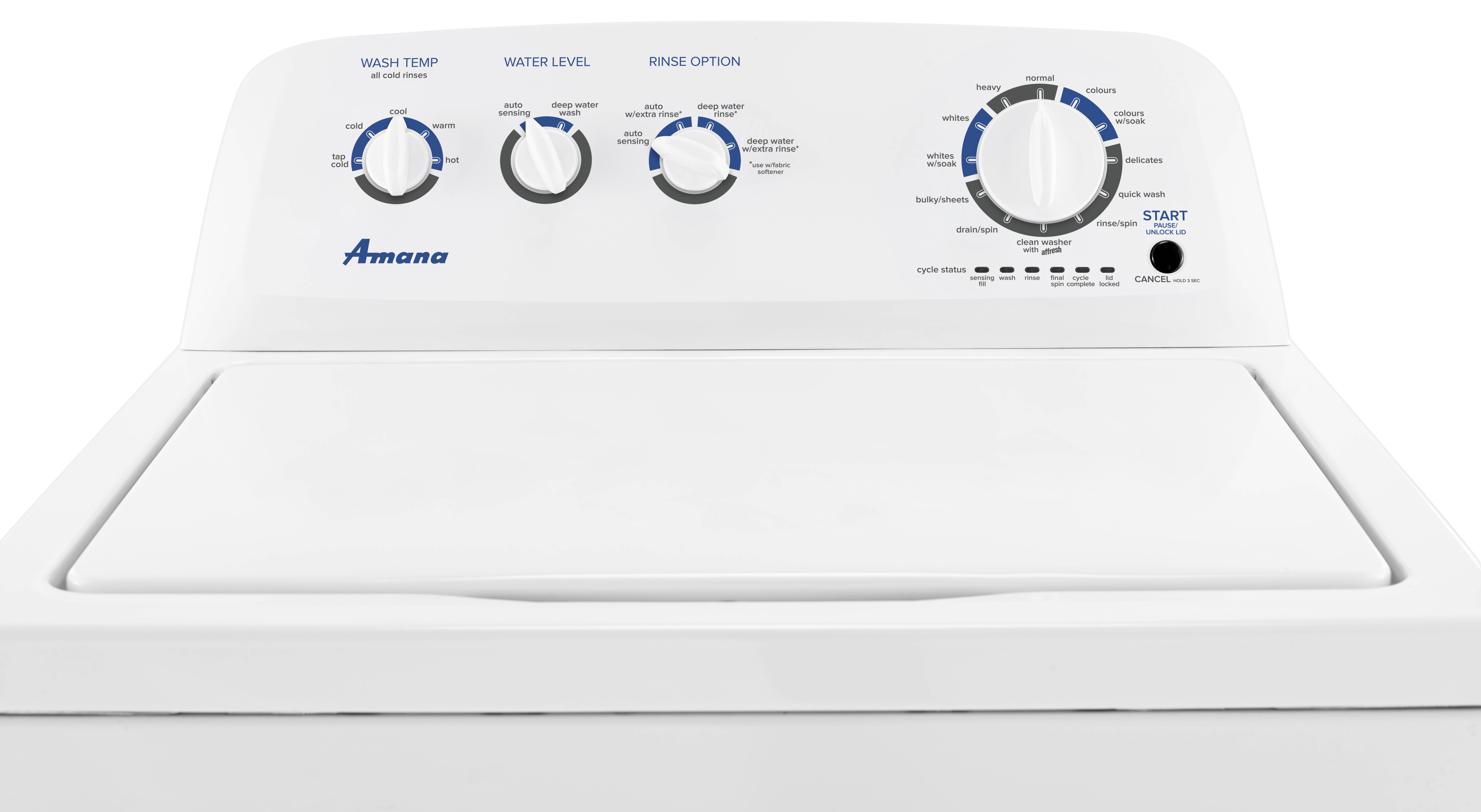 Amana® 4 4 cu  ft  Top-Load Washer with Dual Action Agitator