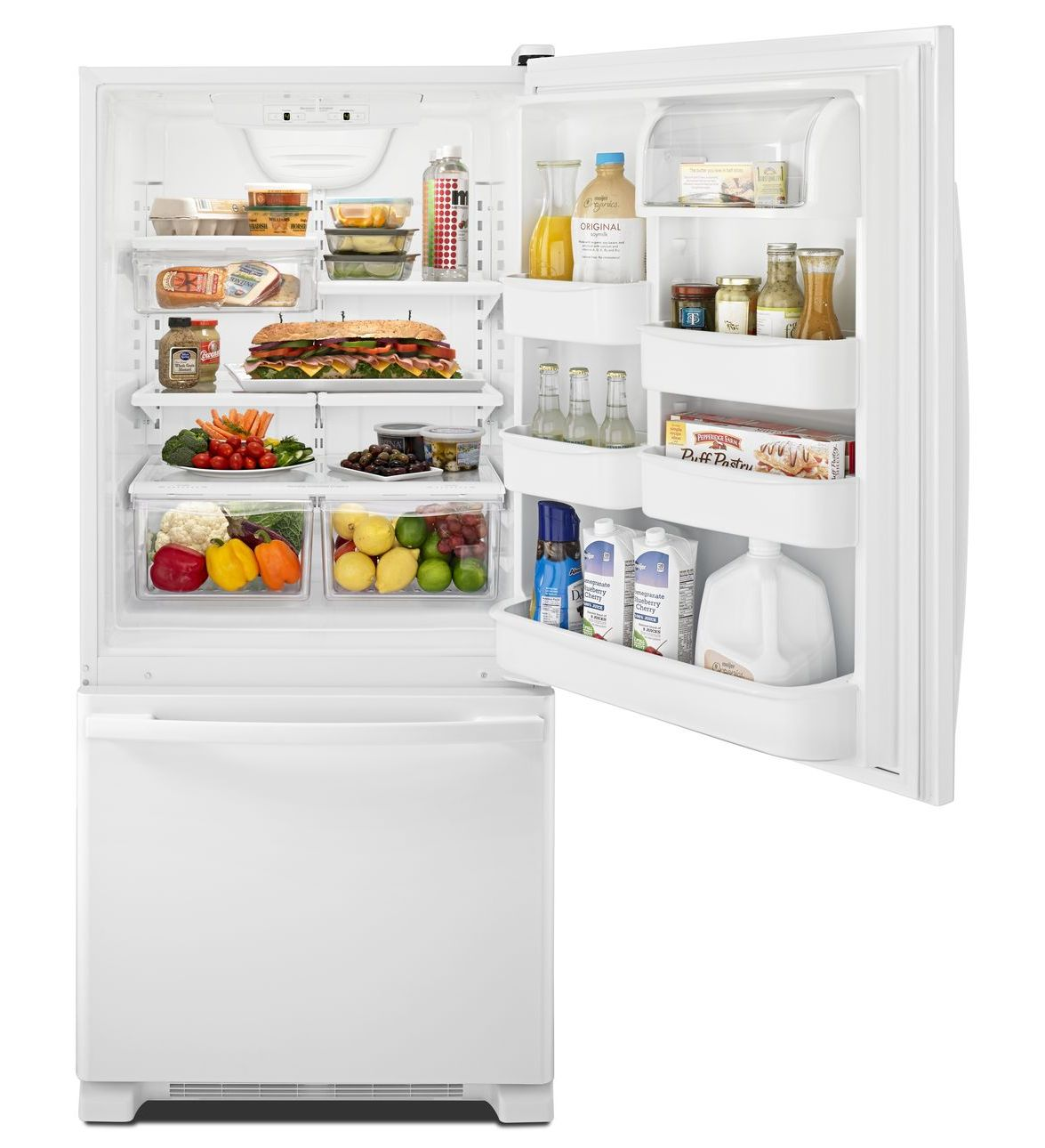 Abb1924brw Amana 174 18 5 Cu Ft Bottom Freezer Refrigerator