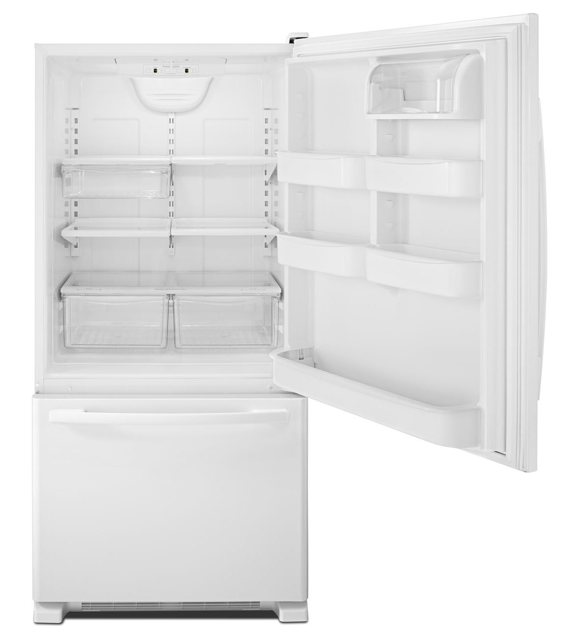 Abb2224brw Amana 174 22 Cu Ft Bottom Freezer Refrigerator