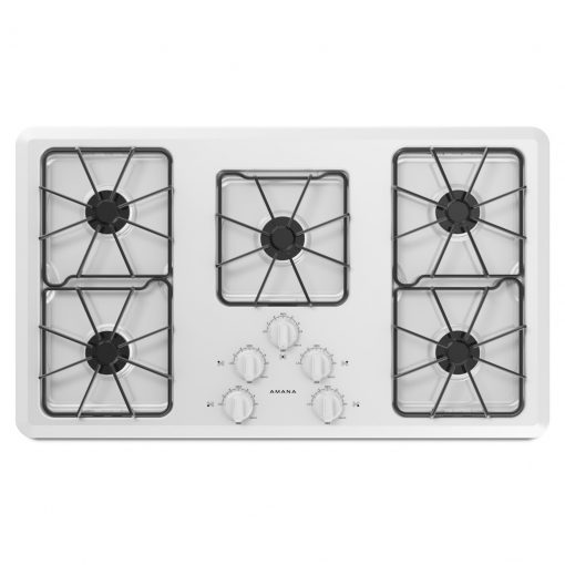 AGC6356KFW36-INCH AMANA® GAS COOKTOP WITH FRONT CONTROLS