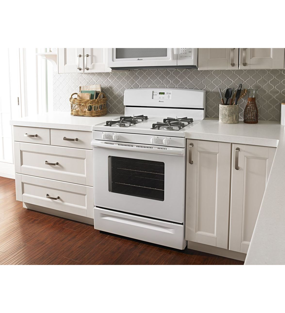 (AGR5630BDW) Amana® 5.0 Cu. Ft. Gas Oven Range With Easy