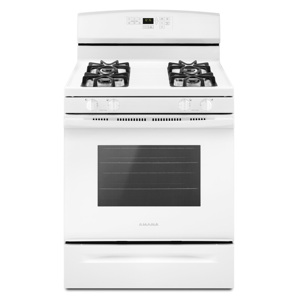 534a1f1d0 AGR6603SFW30-INCH AMANA® GAS RANGE WITH SELF-CLEAN OPTION