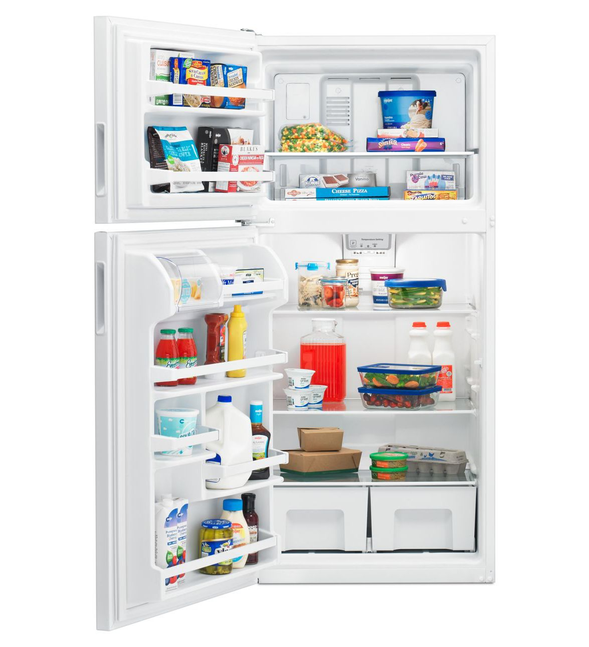 Amana® 30-inch Wide Top-Freezer Refrigerator with Glass Shelves – 18 cu  ft