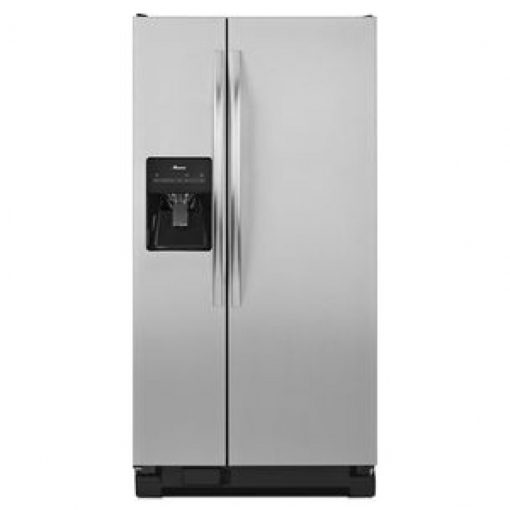 ASD2275BRS32-INCH WIDE AMANA® SIDE-BY-SIDE REFRIGERATOR WITH ADJUSTABLE DOOR BINS — 21 CU. FT. CAPACITY