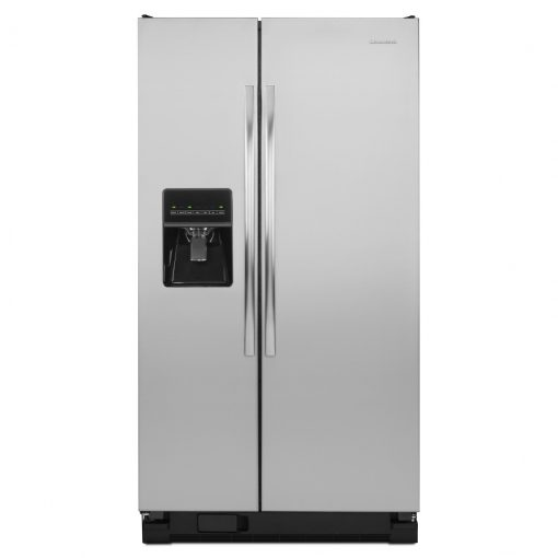 ASD2575BRS35.5-INCH WIDE AMANA® SIDE-BY-SIDE REFRIGERATOR WITH GALLON DOOR STORAGE BINS — 24 CU. FT. CAPACITY