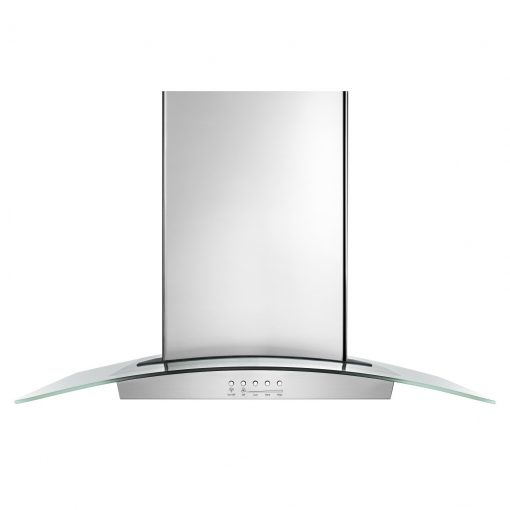 WVI75UC6DSWHIRLPOOL 36 INCH GLASS ISLAND KITCHEN HOOD WITH GLASS EDGE LED LIGHTING