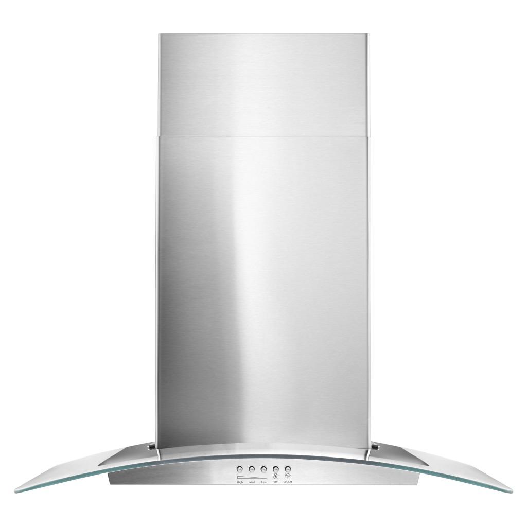 wvw51uc0fs hotte de cuisine murale en verre concave whirlpool de 30 po. Black Bedroom Furniture Sets. Home Design Ideas