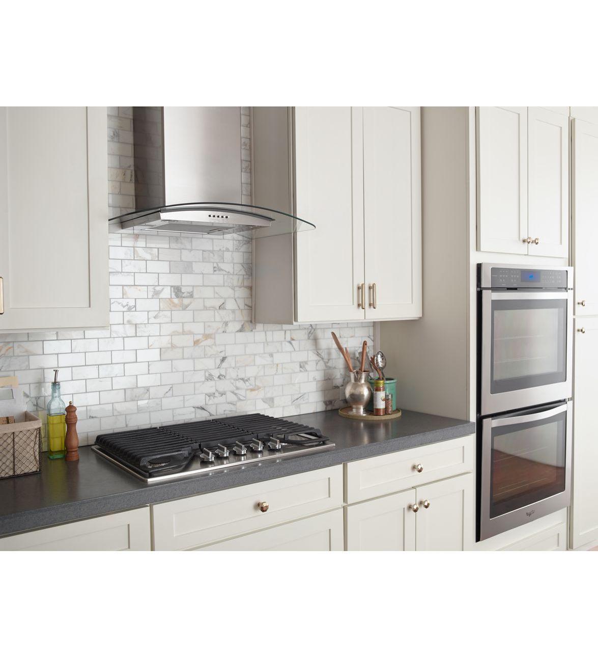 Wvw51uc0fs hotte de cuisine murale en verre concave - Hotte de cuisine murale ...