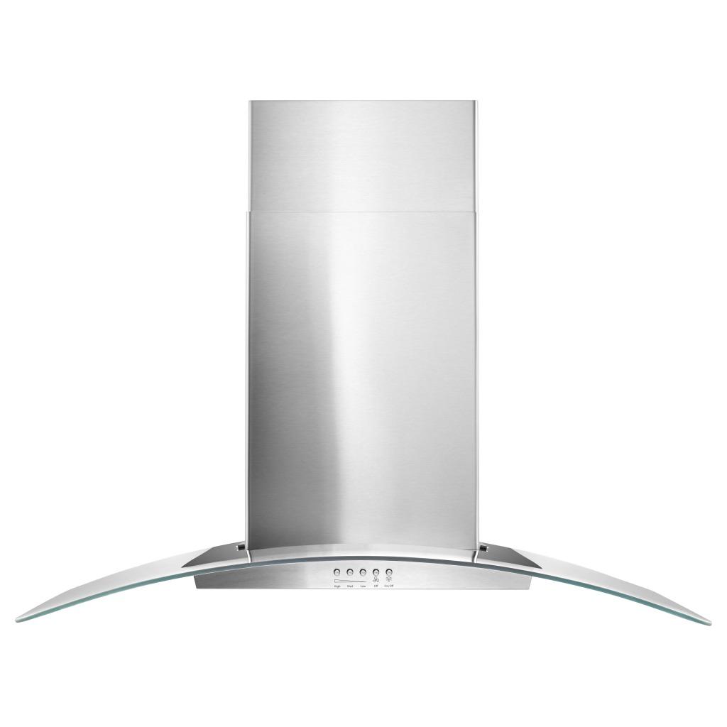 wvw51uc6fs hotte de cuisine murale en verre concave whirlpool de 36 po. Black Bedroom Furniture Sets. Home Design Ideas