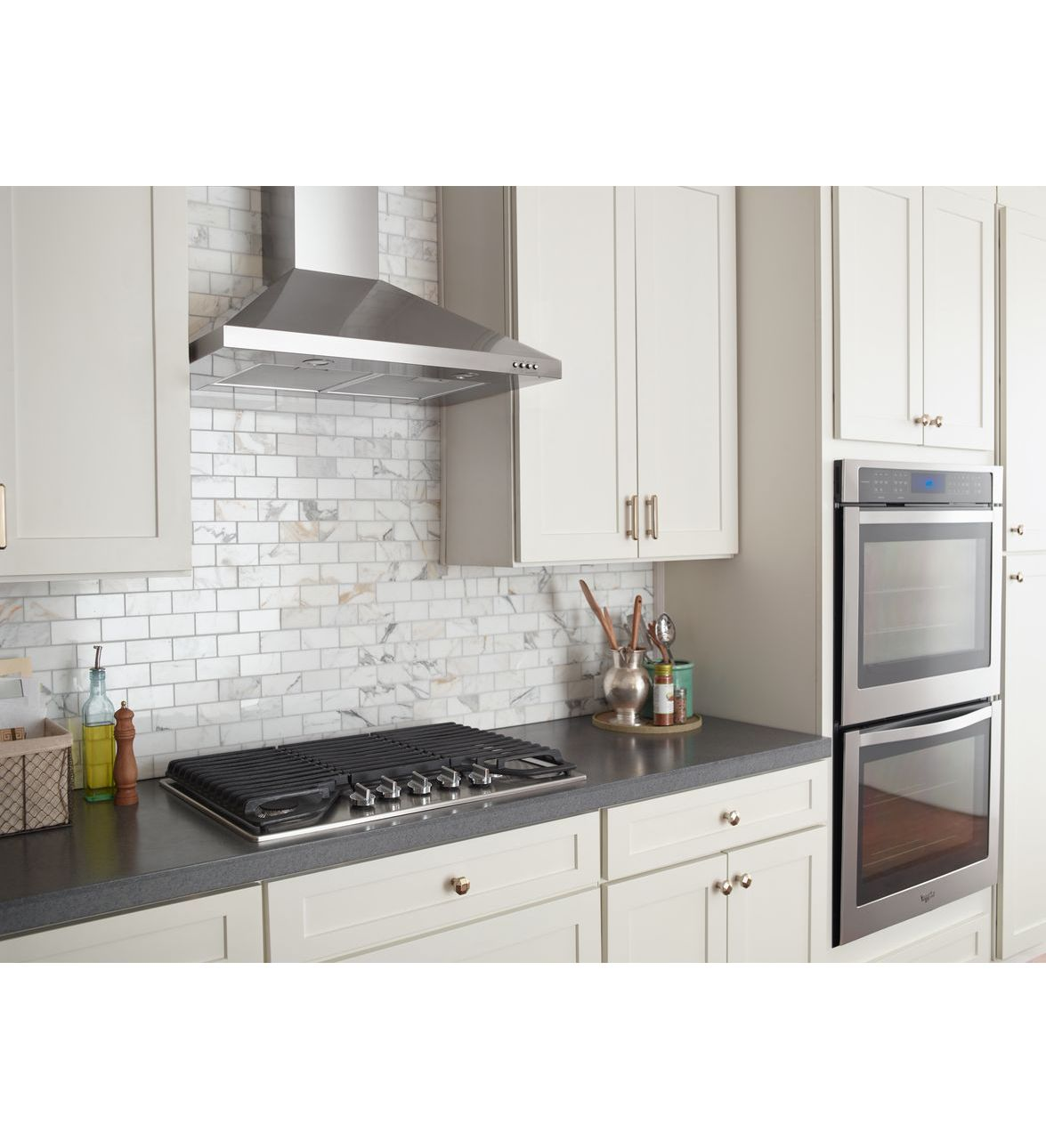 wvw53uc0fs hotte de cuisine murale contemporaine en acier inoxydable whirlpool de 30 po. Black Bedroom Furniture Sets. Home Design Ideas
