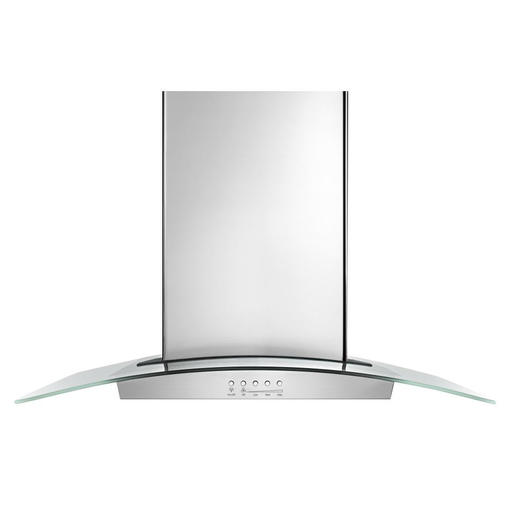 wvw75uc6ds hotte de cuisine en verre de 36 po avec ventilateur en ligne intelligent quiet partner. Black Bedroom Furniture Sets. Home Design Ideas