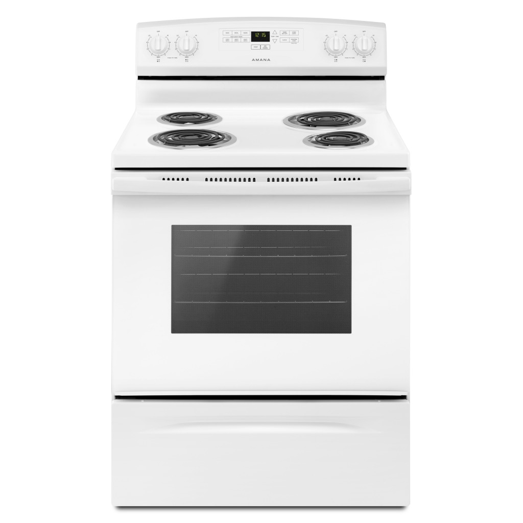 Yacr4303mfw 30 Inch Amana 174 Electric Range With Bake