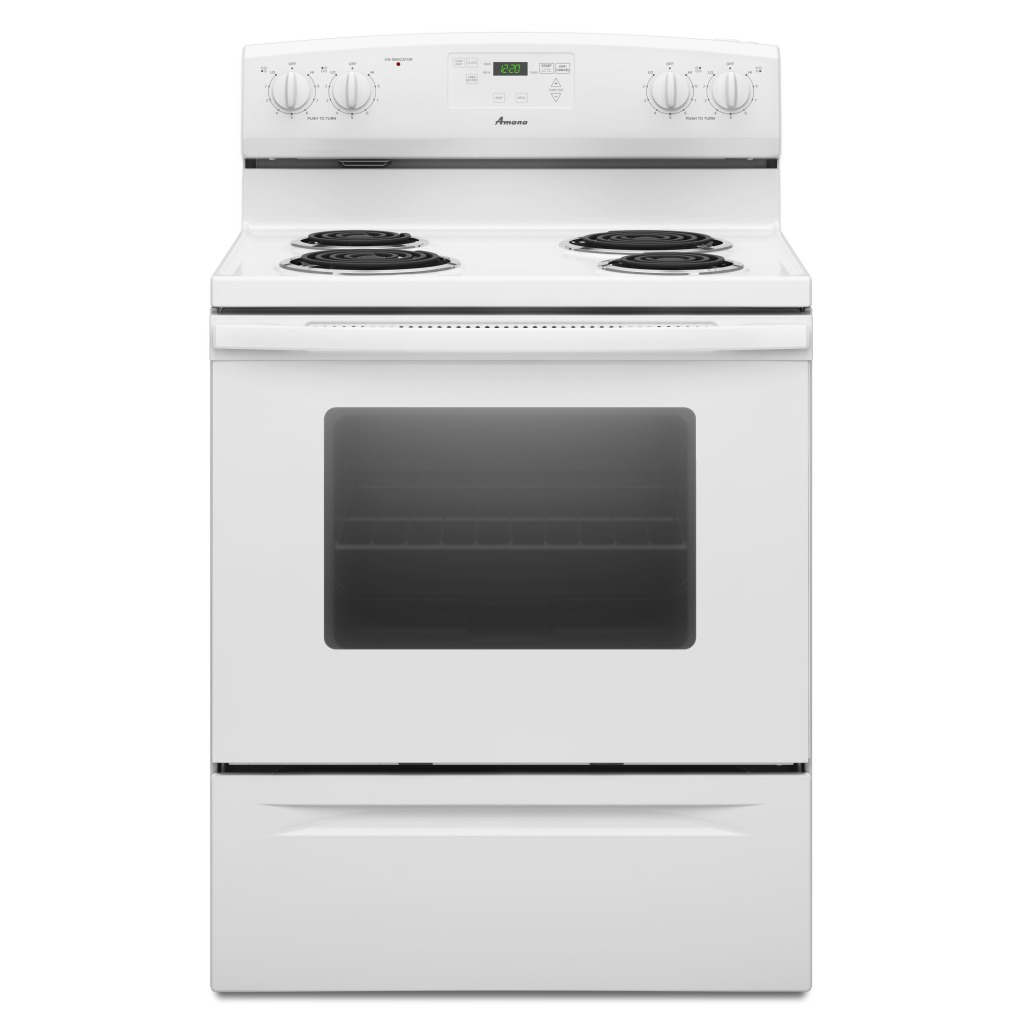 Yacr4330bcw amana 30 inch free standing electric range - Inch electric range reviews ...