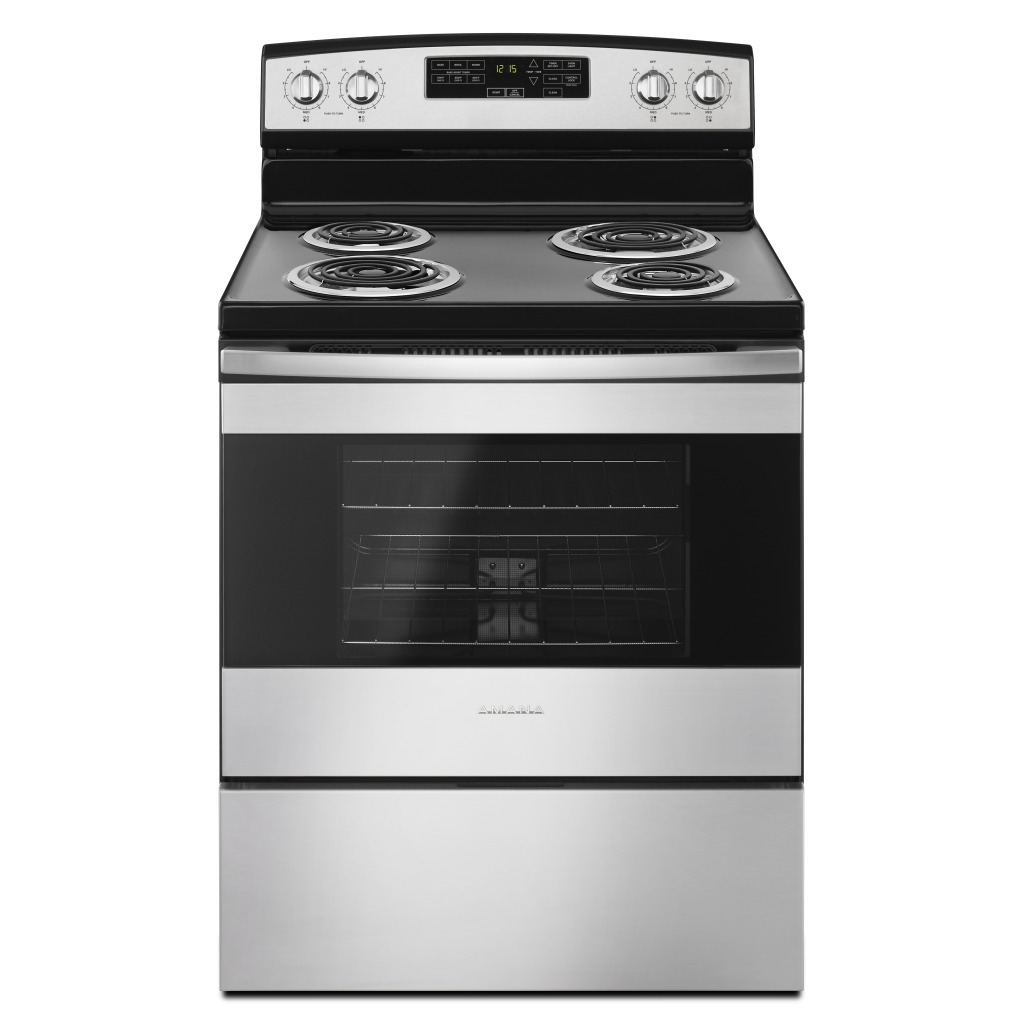 Yacr4503sfs 30 inch amana electric range with self clean option - Inch electric range reviews ...