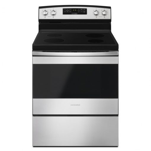 YAER6303MFS30-INCH AMANA® ELECTRIC RANGE WITH EXTRA-LARGE OVEN WINDOW